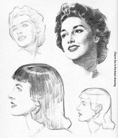 учимся рисовать портрет карандашом: